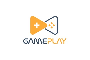 Play Button and Joy Stick Gaming Logo Designs Vector
