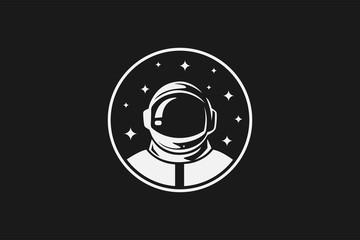 Astronout Head Logo Icon Vector Design Template