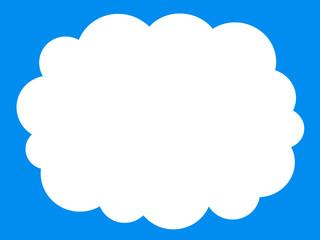 白い雲のフレーム