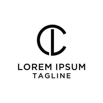 Letter CL simple Logo Template