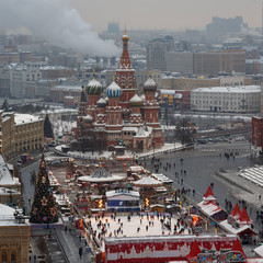 Red square on |New Year's eve.