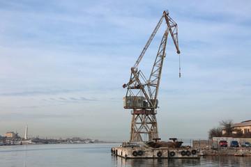 Port crane in Sevastopol.