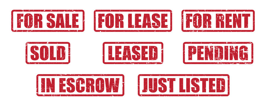 Stamp Pack for Real Estate Agents | Distressed Vector Labels for Realtors & Home Sales