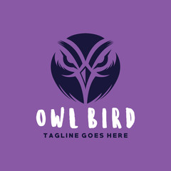 Owl Logo Vector Design Template. Modern Bird Emblem Icon. Mascot Symbol. Logo For Company And Business.