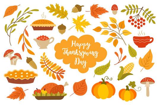 Thanksgiving design elements.