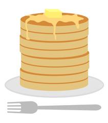 高く積んだホットケーキ