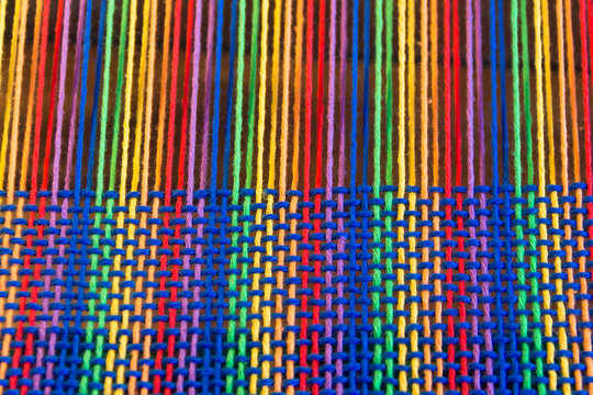 Comb loom with rainbow colors and diversity flag