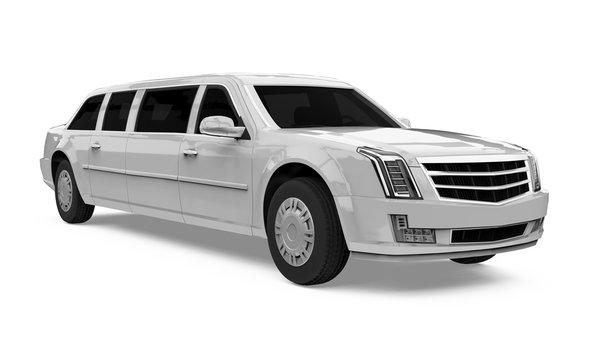 Luxury Limousine Car Isolated