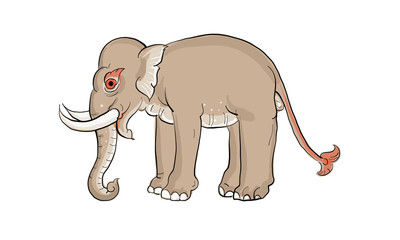 Wall Murals For Kids elephant in Thai traditional painting, tattoo