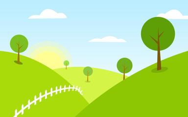 Landscape Background Vector illustration