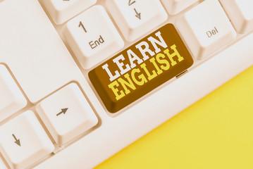 Word writing text Learn English. Business photo showcasing Universal Language Easy Communication...