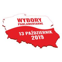 Fototapeta Wybory parlamentarne 2019