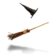 witch flying broom