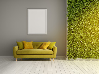 Room with green vertical gardens Wall mural