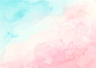 Blue and pink watercolor background Soft abstract texture for Wedding invitation