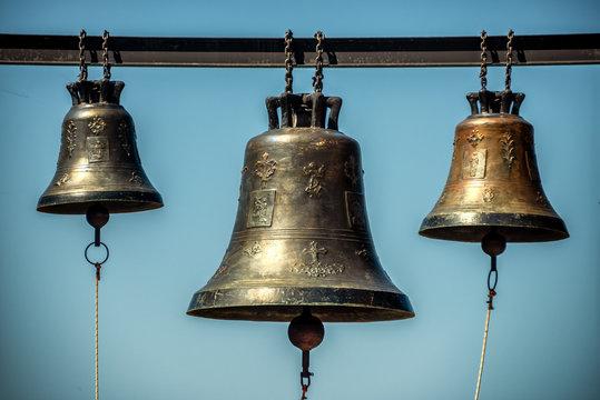 bells on observation platform at Agios Patapios ( Moni Osiou Patapiou) monastery near Loutraki
