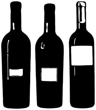 Weinflaschen Flasche Wein SVG Vektor Silhouette