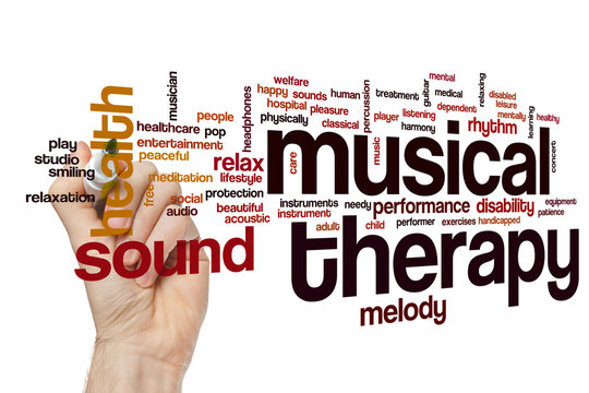 Musical therapy word cloud