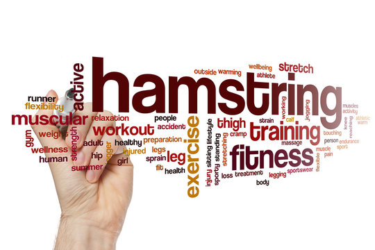 Hamstring word cloud