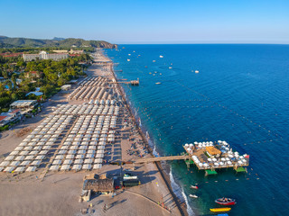 Coast of the Turkish Riviera with amazing beach, Tekirova