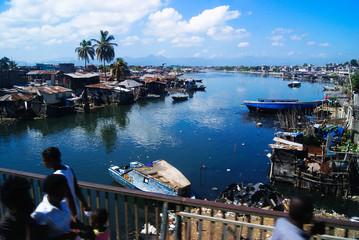 River houses in Cap Haitien, Haití