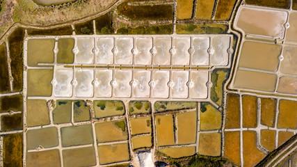 Luftbild Salzgärten von Guerande, Bretagne