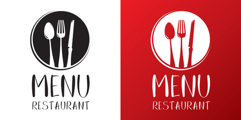 Restaurant menu vector logo template