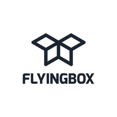 flyingbox logo template for your business logo