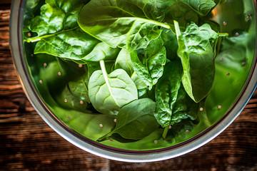 fresh raw spinach