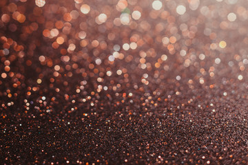 Brown abstract bokeh background for sparkle design