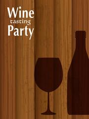 ワインパーティー 招待状