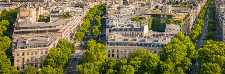 Paris skyline with typical Parisian Haussmannian buildings Wall mural