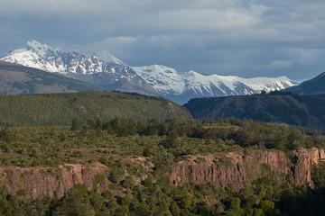 Scenic landscape around Lago General Carrera in northern Patagonia, Chile