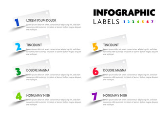 Info Chart Layout with Seven Colorful Options