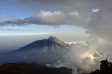 Fond de hotte en verre imprimé Volcan wonderful enviroment