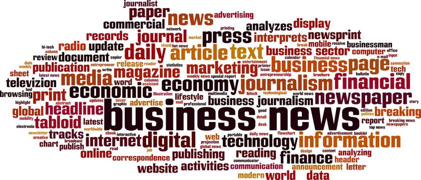 Business news word cloud