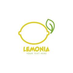 Lemon graphic design template vector isolated illustration