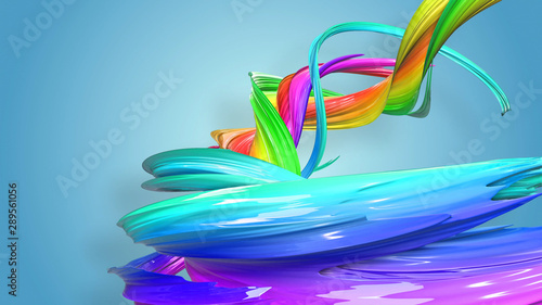 Creative Abstract Swirl Rainbow Color Background Abstract
