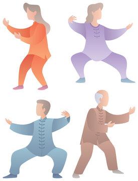 Qigong Senior Characters Set