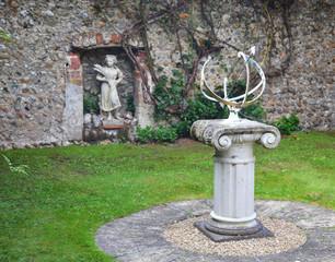 Old statue in a garden