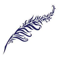 Tribal Tattoo - Feather Quill