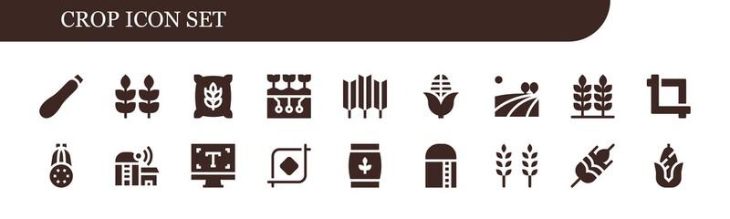crop icon set Fotomurales