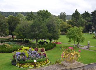 Parade garden in Bath, Somerset, Great Britain