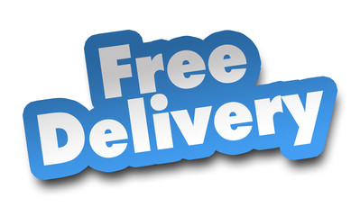 free delivery concept 3d illustration isolated