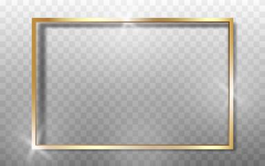 Gold Frame Realistic. High quality vector illustration EPS 10. On transparent background