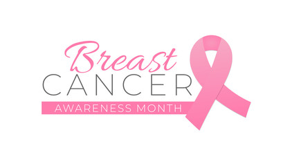 Breast Cancer Awareness Month Isolated Logo Icon Sign