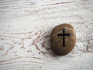 Cross on Rock - 124