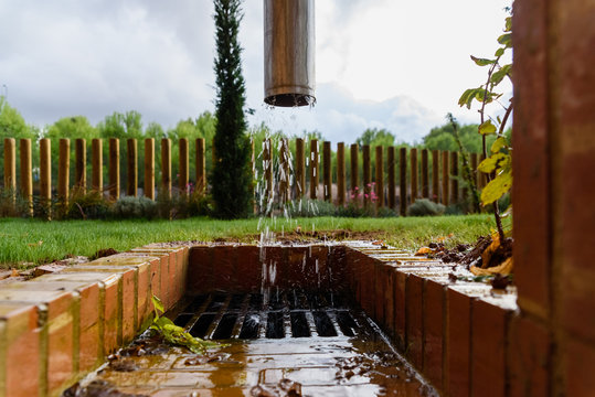 Drainage channel expelling water after  rains.
