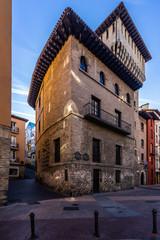 Torre de Dona Ochanda in the medieval historic center of Vitoria-Gasteiz, Alava, Basque Country, Spain