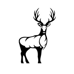 Deer icon vector isolated on white background. Deer icon vector illustration